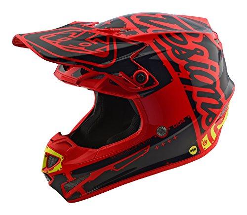 2018 Troy Lee Designs SE4 Polyacrylite Factory Helmet-Red-L
