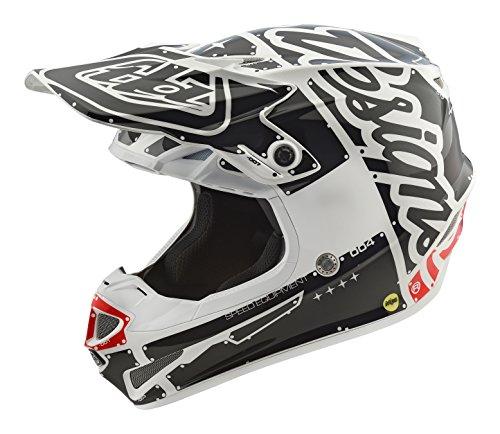 2018 Troy Lee Designs SE4 Polyacrylite Factory Helmet-White-L