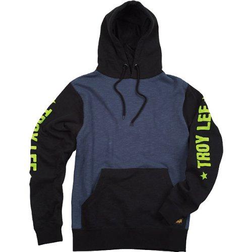 Troy Lee Designs Course Fleece Mens Hoody Pullover Sports Wear Sweatshirt - BlackBlue  X-Large