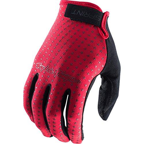 Troy Lee Designs Sprint Mens Bicycle BMX Gloves - Red  Large