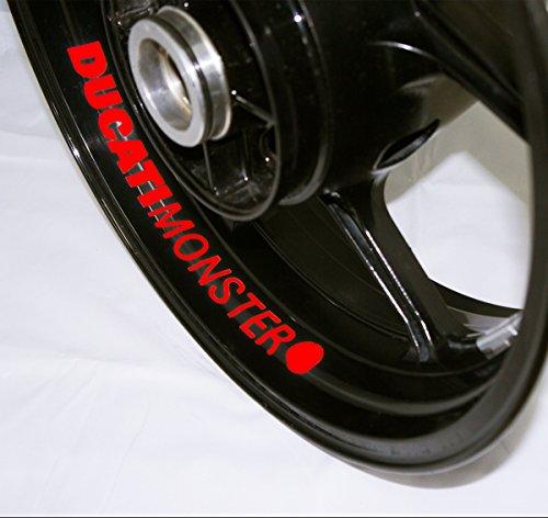 AFBA Ducati Monster Inner Rim Motorcycle Sticker Decal Stripe Gloss Red