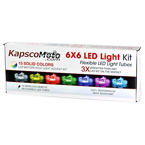 KapscoMoto Motorcycle 7 Color LED Accent Light Kit Remote For Honda VTX 1300 C R S RETRO
