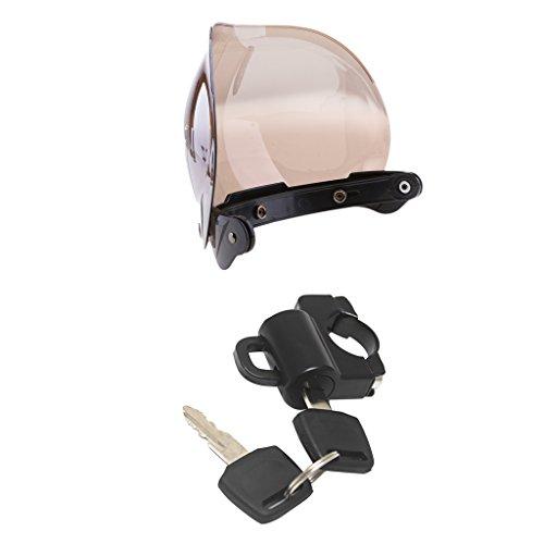 MonkeyJack 3 Snap Helmet Visor Shield For HarleyMotorcycle Helmet Anti-theft Lock 22m