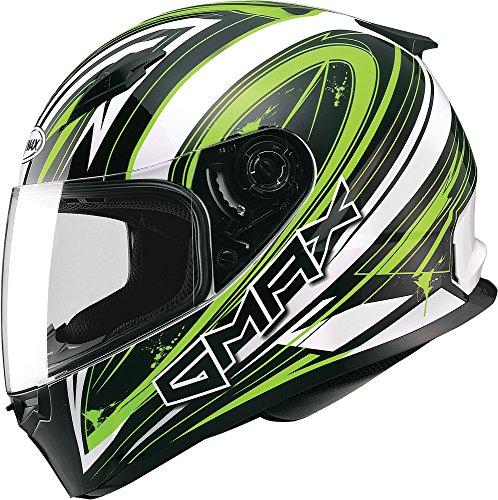 Gmax FF49 Warp Full Face Street Helmet WhiteHi-Viz Green XXX-Large