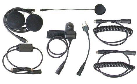 MotoComm Plug-in Bike-To-Bike Communications for Uniden GMRS Radios - H-Bar Mount - Full Helmet
