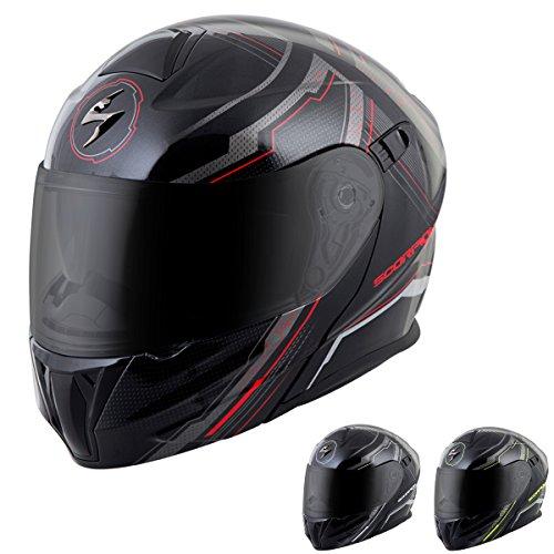 ScorpionExo EXO-GT920 Satellite Full Face Modular Helmet BlackNeon X-Large