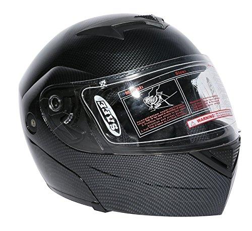 TCMT Adult Carbon Fiber Full Face Motorcycle Helmet DOT S