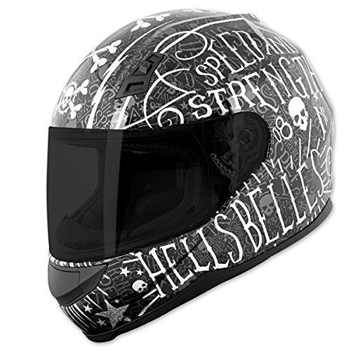 Speed and Strength SS700 Hells Belles Matte Black Full Face Helmet L