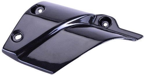 Bestem CBYA-TENE-EHC Black Carbon Fiber Exhaust Heat Shield Cover for Yamaha Super Tenere 2012 - 2013