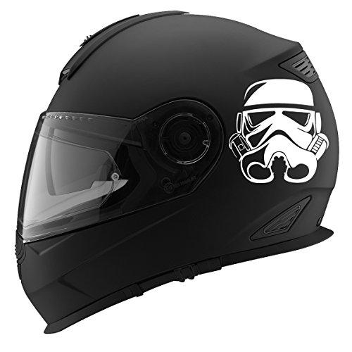 Storm Trooper Helmet Auto Car Racing Motorcycle Helmet Decal - 5 - White