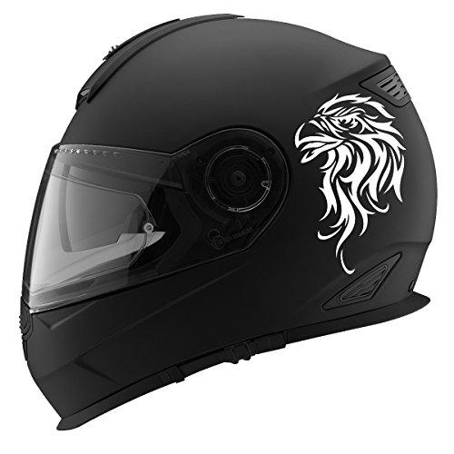 Tribal Bald Eagle Auto Car Racing Motorcycle Helmet Decal - 5 - White