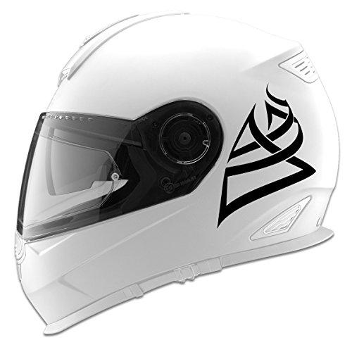 Tribal Design Auto Car Racing Motorcycle Helmet Decal - 5 - Black
