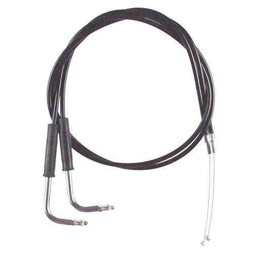 Black Vinyl Coated 4 Throttle Cable Set for 2007-2010 Harley-Davidson Softail Custom models - HC-0334-0142-FXSTCI