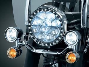 Kuryakyn LED Halo Trim Ring Headlight Chrome 7750