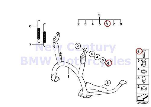 2 x BMW Genuine Motorcycle Center Stand Countersunk Head Screw M10X30-88-MK R1100S R1200GS R1200GS Adventure R1200RT R900RT R1200R R1200ST