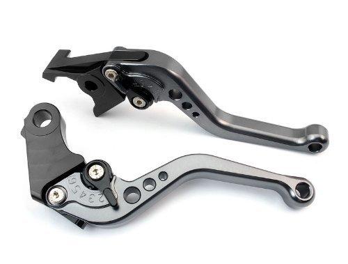 CTG CH-234 Adjustable CNC short Brake and Clutch Levers for YAMAHA MT-09SRFZ9 2014-Grey