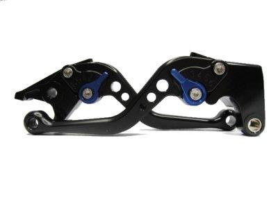 POWTEC PTBU-302 Adjustable short Brake and Clutch Levers for Yamaha MT-09SR FZ09 2014-BLACK WITH BLUE