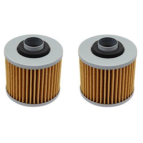Cyleto Oil Filter for YAMAHA XV250 V-STAR 250 2008-2016  XV250 VIRAGO 250 1995-2009  Pack of 2