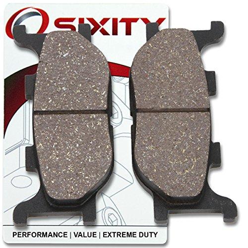 Sixity Front Organic Brake Pads 2008-2012 Yamaha XV250 V Star 250 Set Full Kit Complete