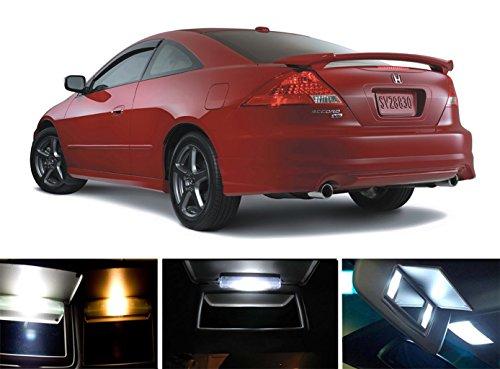 1998 - 2015 Honda Accord Xenon White Vanity  Sun Visor LED Light Bulbs 4 pieces
