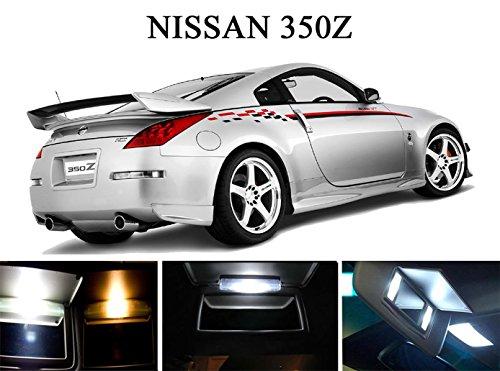 2003 - 2008 Nissan 350Z Xenon White LED Light Bulbs for Vanity Sunvisor 4 Pieces