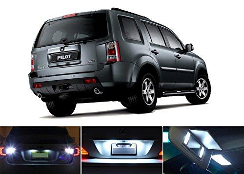 2003 - 2015 Honda Pilot Xenon White LED Package for License Plate  Reverse  Vanity Sun Visor 6 pieces