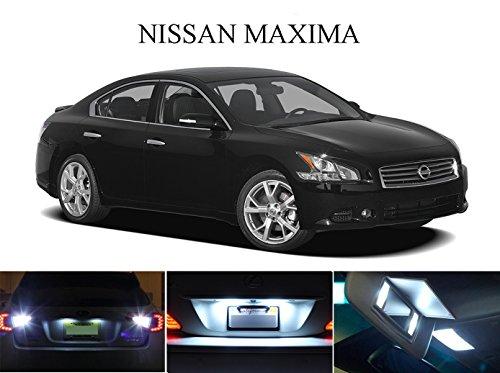 2003 - 2015 Nissan Maxima Xenon White LED Package for License Plate  VanitySun Visor lights 6 Pieces
