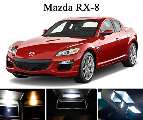 2004 - 2011 Mazda RX-8 Xenon White LED Light Bulbs for VanitySunvisor 4 Pieces