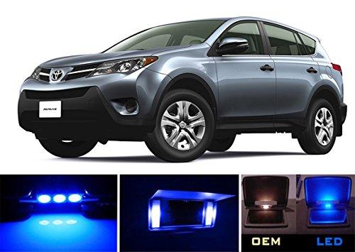 2006 - 2015 Toyota Rav-4 Ultra Blue LED Light Bulbs Package for Vanity Sunvisor  4 Pieces