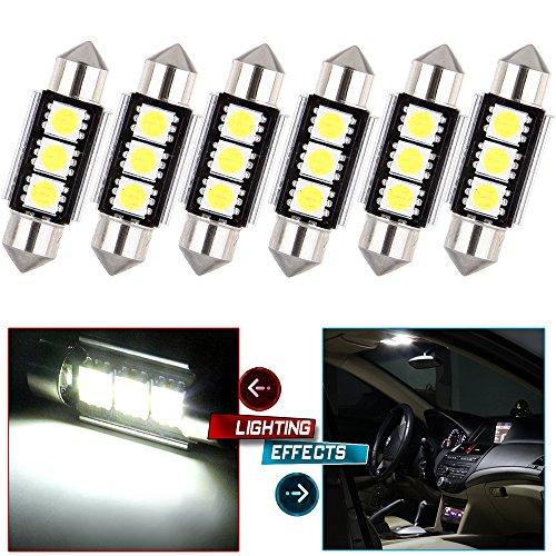 CCIYU White Error Free Festoon 36MM 5050 LED Bulb for 1996-2012 Audi A4 8D8E8H8K Dome Light MirrorVanity Sunvisor Light License Plate Light