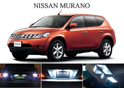 LED light for 2003 - 2008 Nissan Murano Xenon White LED Package for License Plate  VanitySun Visor lights 4 Pieces