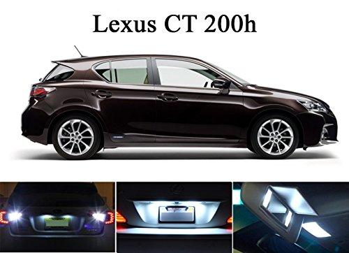LED lights for 2011 - 2015 Lexus CT200H Xenon White LED Package for License Plate  Vanity Sun Visor 4 pieces