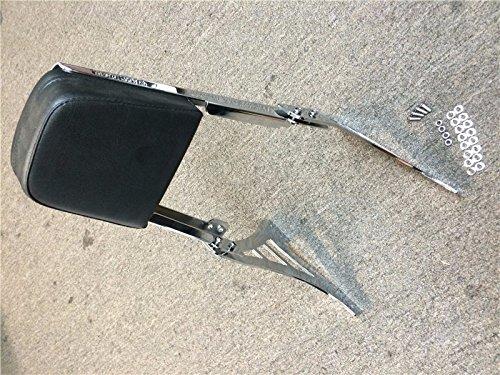 Flame Backrest Sissy Bar Leather Pad For 1995-2003 Harley Davidson Sportster 883 XL883 1200 XL1200