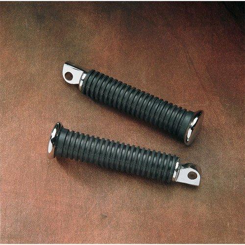 BKRider 5 Extended Length Rubber Vibration-Absorbing Passenger Footpegs For Harley-Davidson