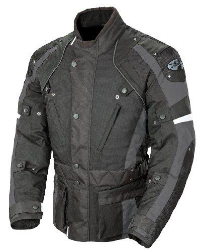 Joe Rocket Ballistic Revolution Mens Textile Motorcycle Riding Jacket BlackGray Small