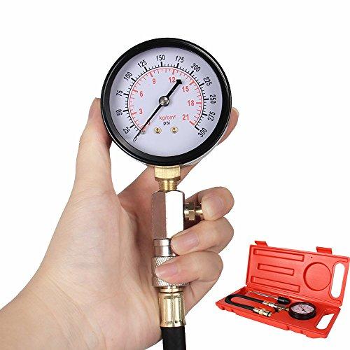 Bang4buck Heavy Duty 0~300 Psi Cylinder Pressure Tester G324  Gasoline Engine Compression Gauge Kit for Cars SUVs RVs and  ATV
