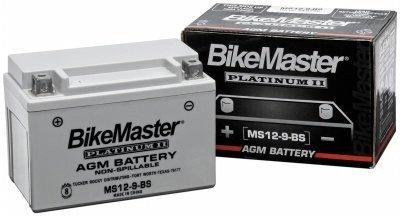 BikeMaster AGM Platinum II Battery For Yamaha XT250 1984  XT350 1985-2000 - MS12-3L-B
