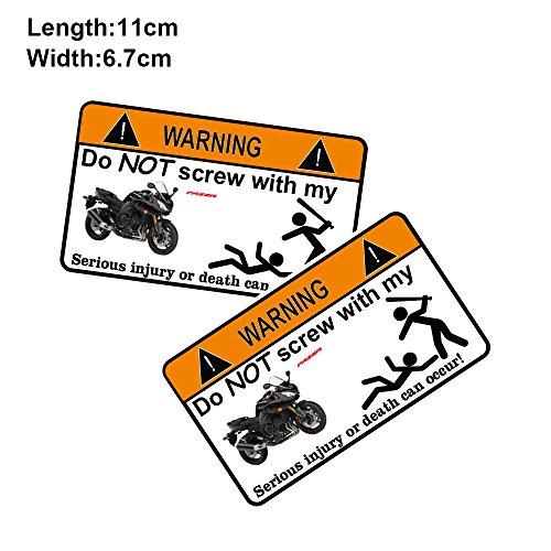 PRO-KODASKIN 2 Pieces Do Not Screw Warning Sticker Decal for Yamaha FAZER