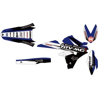 Attack Graphics Custom Roost Full Trim Kit YZ BlueBlack for Yamaha YZ450FX 2016-2018