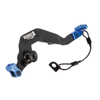 TORC1 Racing Motion MX Aluminum Rear Brake Pedal BlackBlue Tip for Yamaha YZ450FX 2016-2018