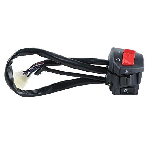 XFMT ATV Scooter Handlebar Left Turn Signal Switch Control For HONDA CB 400 1300 VTEC