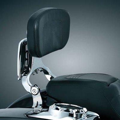Kuryakyn 1660 Multi-Purpose Driver Passenger Backrest ea for Harley-Davidson Backrest Mount Plates sold separately 1660
