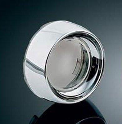 Kuryakyn 2107 Bullet Turn Signal Deep Dish Bezels With Smoked Lenses For Harley-Davidson