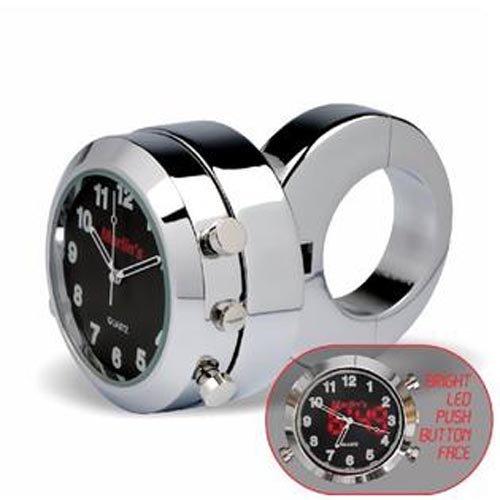 Kuryakyn 6028 Marlins Black Handlebar Clock