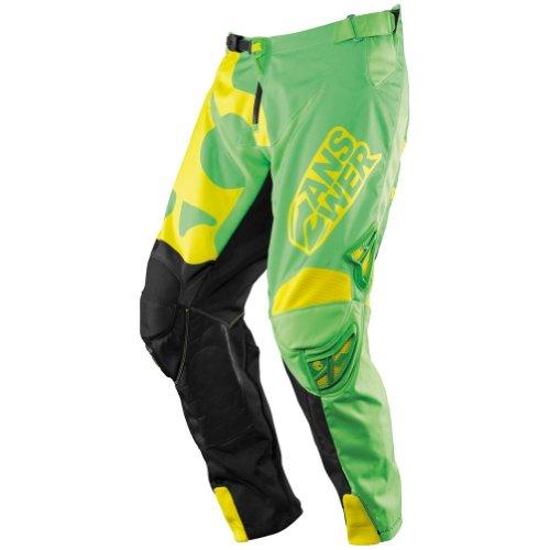 Answer Racing Skullcandy 5050 Mens MotocrossOff-RoadDirt Bike Motorcycle Pants - GreenYellow  Size 30