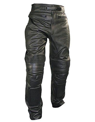Xelement B7466 Mens Black Armored Cowhide Leather Racing Pants - 34