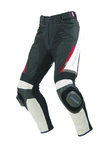 Komine PK-717 Sports Riding Leather M-PNT ivory  black S 07-717