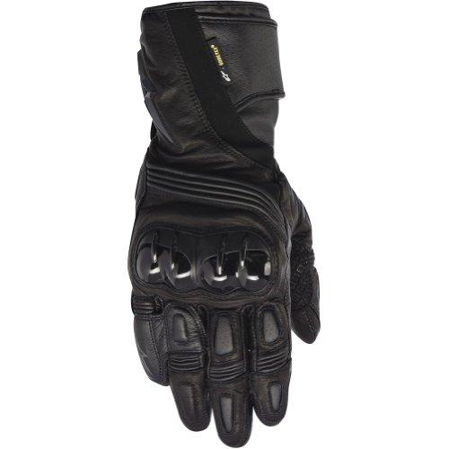 Alpinestars Archer X-trafit Men's Leather Street Racing Motorcycle Gloves - Black / Small
