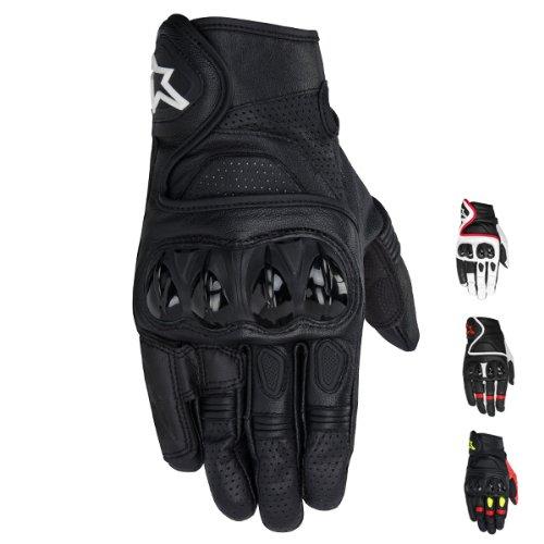 Alpinestars Celer Men's Leather Street Racing Motorcycle Gloves - Black / Medium