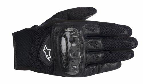 Alpinestars Smx-2 Ac Men's Leather Street Racing Motorcycle Gloves - Black / Medium